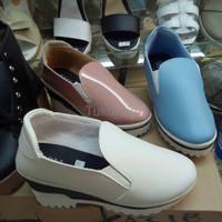 Jual Sepatu Wanita Cewek Sepatu Boot Docmart Toms Putih Solid Murah