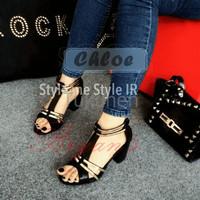 Jual Sepatu Wanita Cewek Black Chloe Hak Tahu Murah