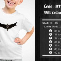 Jual  Kaos Anak Batman  Kaos Superhero  BTM009 T3009 Murah