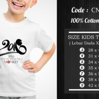 Jual  Kaos Anak Imlek  CNY024 T3009 Murah