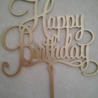 Jual Cake Topper - Tulisan Happy Birthday - T03 Murah