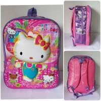 Jual Hello Kitty Timbul Tas Ransel Sekolah Anak SD 2 Ruang Farnell Murah
