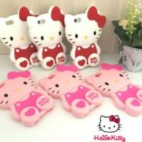 Jual  Oppo F1s A59 3D Cartoon Hello Kitty  3 Soft Silicon case T1910 Murah