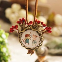 Jual Kalung Fashion Small fresh berries time gemstone necklace Murah