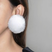 Jual Anting Jepit Korea PomPom ear clip no needle Murah