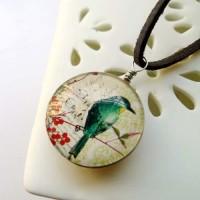 Jual Kalung Fashion Birds Floral Melody Gemstone necklaces Murah
