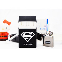 Jual  Casing Kotak Rokok Anti Air Silicone Cover Logo Superman T1310 Murah