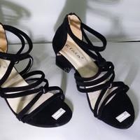 Jual Sepatu Wanita Cewek High Heels Hak Tahu Krd20 Hitam KND Murah