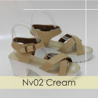 Jual Sepatu Wanita Cewek Wedges Platform Nv02 KND Murah