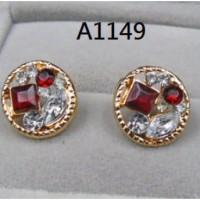Anting Giwang Zircon Berlian (gelang cincin kalung xuping lapis emas)