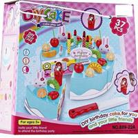 Jual Mainan Anak Perempuan Roti Potong DIY Birthday Cake Song Play Set Murah