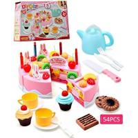 Jual Mainan Anak Perempuan DIY Fruit Cake Birthday Kue Roti Potong Lilin Murah