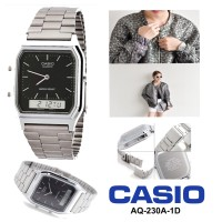Jual Jam Casio Aq-230A-1D Aq230a Original Silver Murah