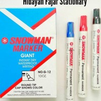 Jual Spidol Permanent Snowman / Permanent Marker Murah
