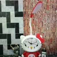 Jual Lampu Belajar Body + Jam Weker Hello Kitty #CD 6765 Murah