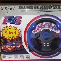 steering wheel, x shot super racing wheel. Buat ps1/ps2/ps3/pc