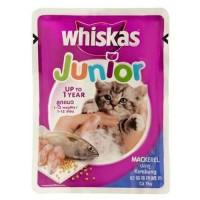 WHISKAS JUNIOR MACKEREL 85 G WET CAT FOOD MAKANAN KUCING BASAH