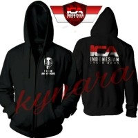 JAKET HOODIE ZIPPER SWEATER ANONYMOUS ICA INDONESIA CYBER ARMY