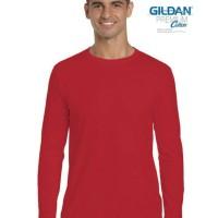 Jual Kaos Polos Pria Lengan Panjang Gildan Premium Long Sleeve T-shirt Murah