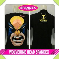 Jual Baju Kaos Distro Superhero Wolverine Head Spandek Hitam Murah Murah