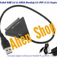 Kabel USB 3.0 to SATA Hardisk 3.5 (PC) & HDD/SSD 2.5(LAPTOP)