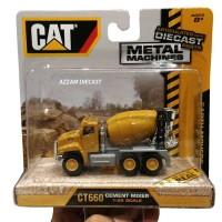Diecast Miniatur Alat Berat Cement Mixer Truck CAT Caterpillar CT660