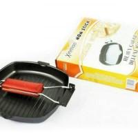 Jual square grill pan teflon non stick frypan pan wajan mini panci Murah