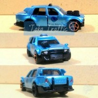 Diecast Taxi Blue Bird Time Attaxi Hot wheels Custom skala 64