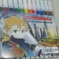 Jual Spidol SNOWMAN set 12 warna Murah