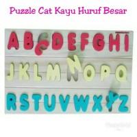 Jual Puzzle Cat Kayu Huruf Besar/Alfanet/Mainan Edukasi Edukatif AnakMurah Murah
