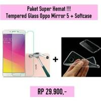 Jual [PAKET] Softcase Ultrathin + Tempered Glass Oppo Mirror 5 Murah