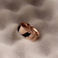 Jual cincin titanium stainless steel rose gold couple kado Murah