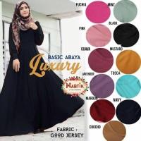 Long Dress Maxi Wanita Muslim luxury abaya polos XL