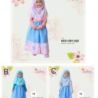 Gamis Labella REG+SB1-DJS    Gamis Anak size 6 8 10   Dress Muslim