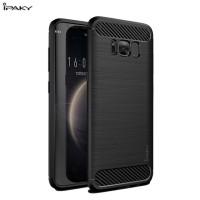 Hard Soft Case Samsung Galaxy S8+ Plus Casing HP IPAKY Carbon Silikon