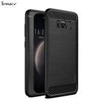 Hard Soft Case Samsung Galaxy S8+ Plus Casing HP IPAKY Carbon Silikon