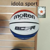 BOLA BASKET MOLTEN OFFICIAL BG7R RUBBER WHITE BLUE RED