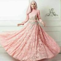 Jual  Lucida maxi brukat baju muslim pesta navy marun black white  T2909 Murah
