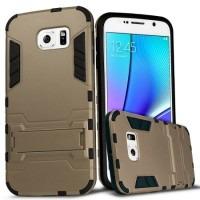 Hybrid Armor Kick Stand Case Casing Samsung Galaxy Note 5 - Gold