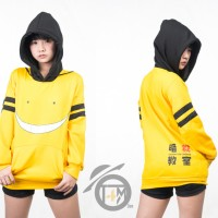 Jaket Anime Assassination (Koro Sensei) Kuning Hitam Sweater Hoodie pd