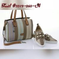 Jual  Tas Fossil Speedy Saylor Taiga Set Shoes APRICOT Semprem 3319-260-1A Murah