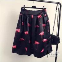 Jual Jual midi skirt flare a line rok payung dress skirt korea fa T3009 Murah