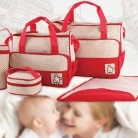 Diaper bag Tas Perlengkapan bayi travelling bag 5 IN 1 multifungsi