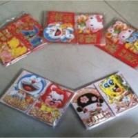 Jual kertas angpao hongbao imlek chinese amplop merah reseller angpao karak Murah