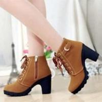 Jual MSFL Sepatu Wanita Boot Tan BT02 757 Murah