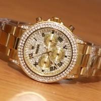 Jam Tangan Rolex Daytona Diamond Chrono Gold Kw Super