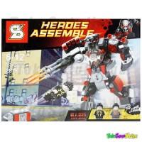 Jual Lego Brick Heroes Assemble SY 362 A B - Ant Man Wolverine Armor Suit  Murah