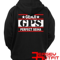 HOODIE ZIPPER SWEATER ANIMAX CROWS ZERO GENJI GPS PERFECT SEIHA LOGO