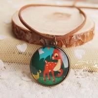 Jual Kalung gemstone kalung batu kalung unik Mouse Deer Cartoon  Murah