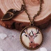 Jual Kalung gemstone kalung batu kalung unik Micro Moore Deer Elk Murah